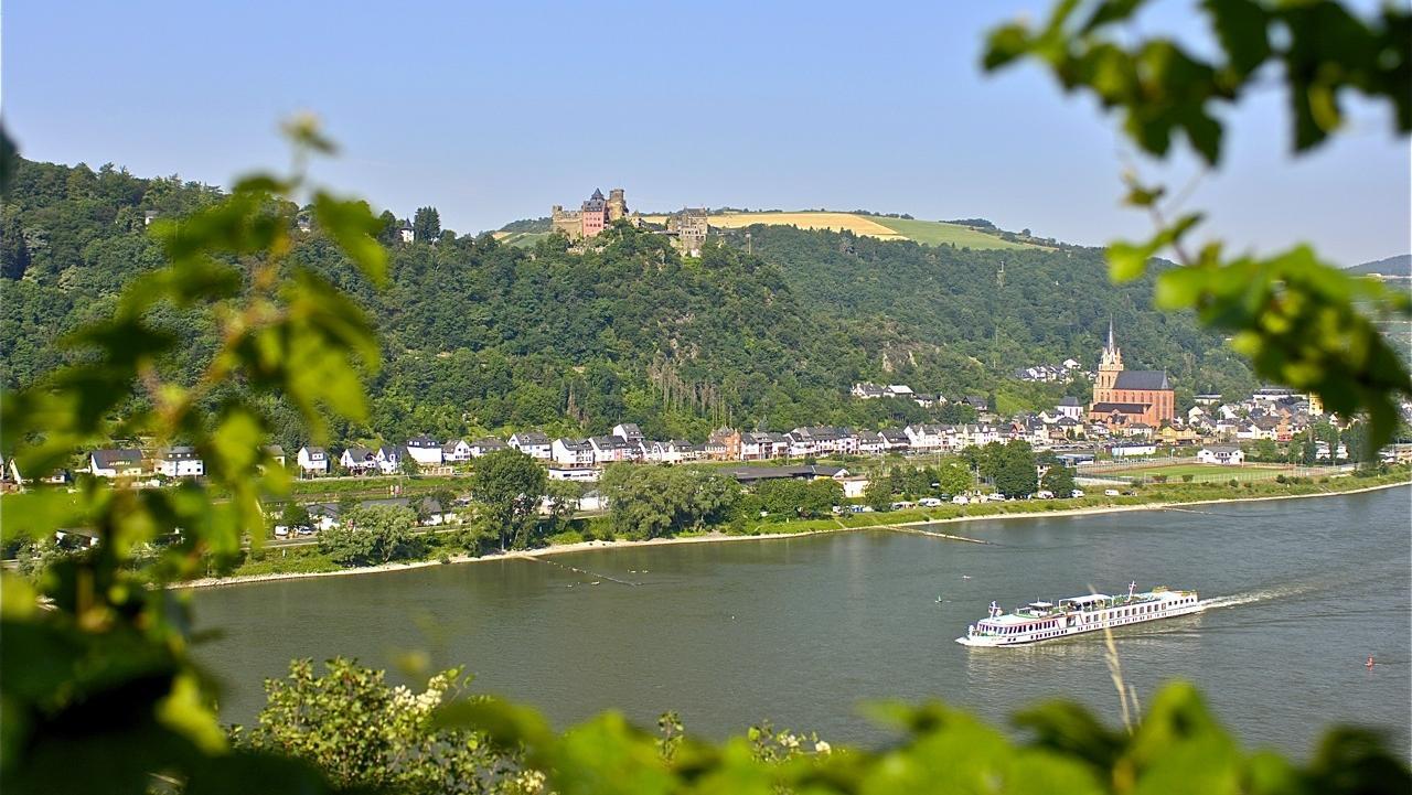 Castle Hotel And Restaurant Auf Schönburg In Oberwesel At The Rhine River